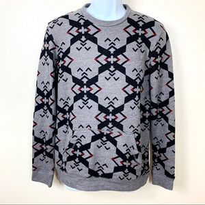 ON The Byas Men's pullover sweater gray black S